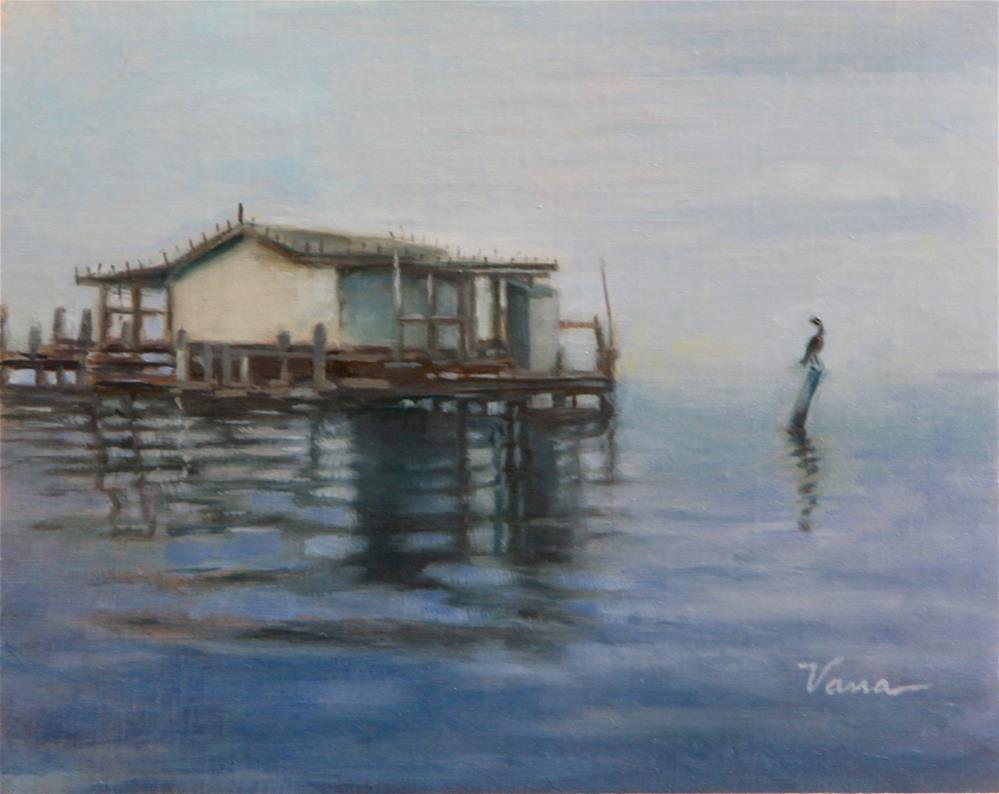 """Old Florida Stilt House"" original fine art by Vana Meyers"