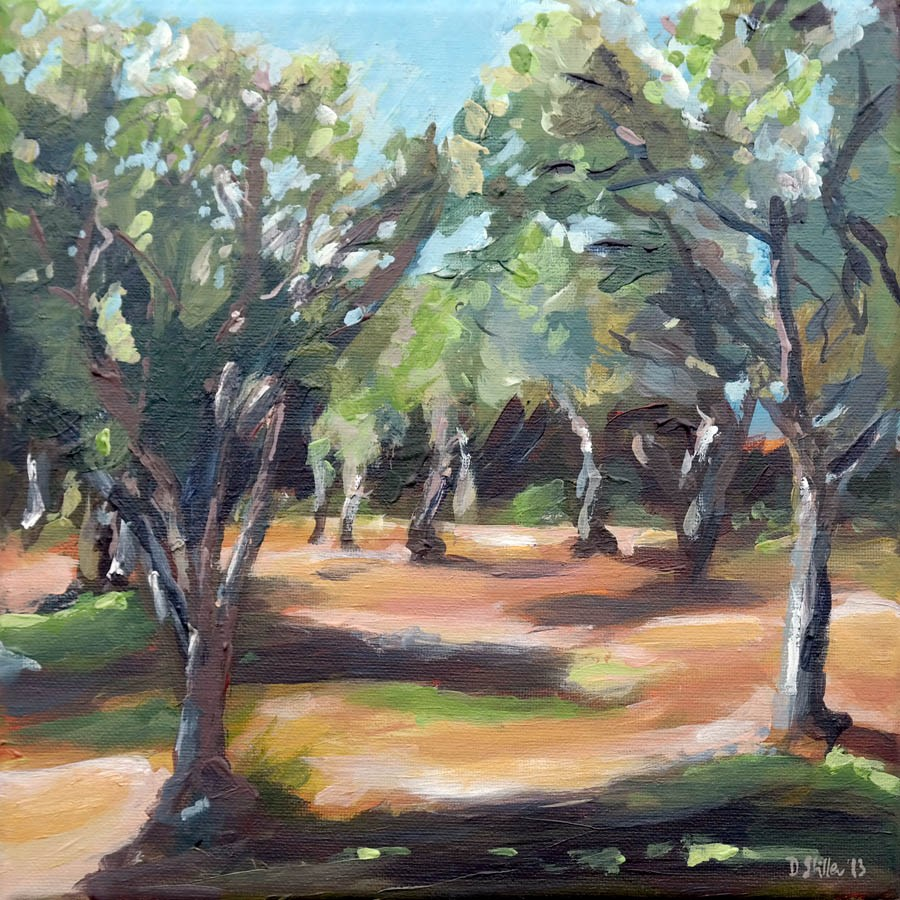 """0718 Olive Grove"" original fine art by Dietmar Stiller"