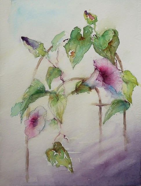 """Glorious Morning!"" original fine art by Mitsuru Cope"