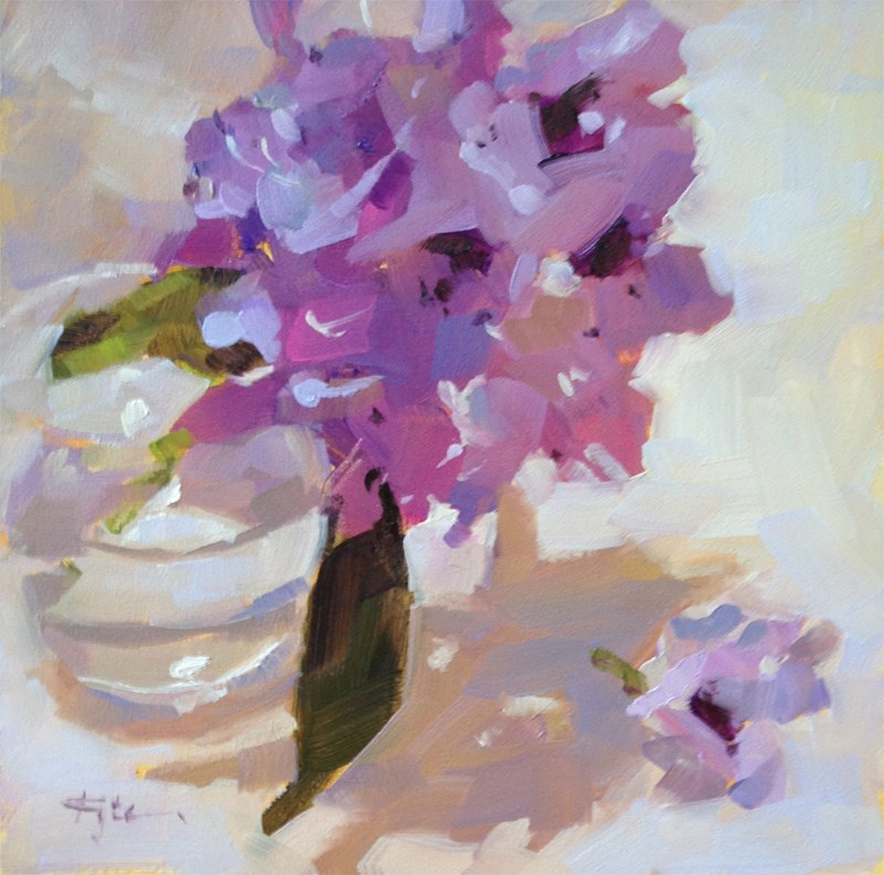 """Purple Rhododendron"" original fine art by Katia Kyte"