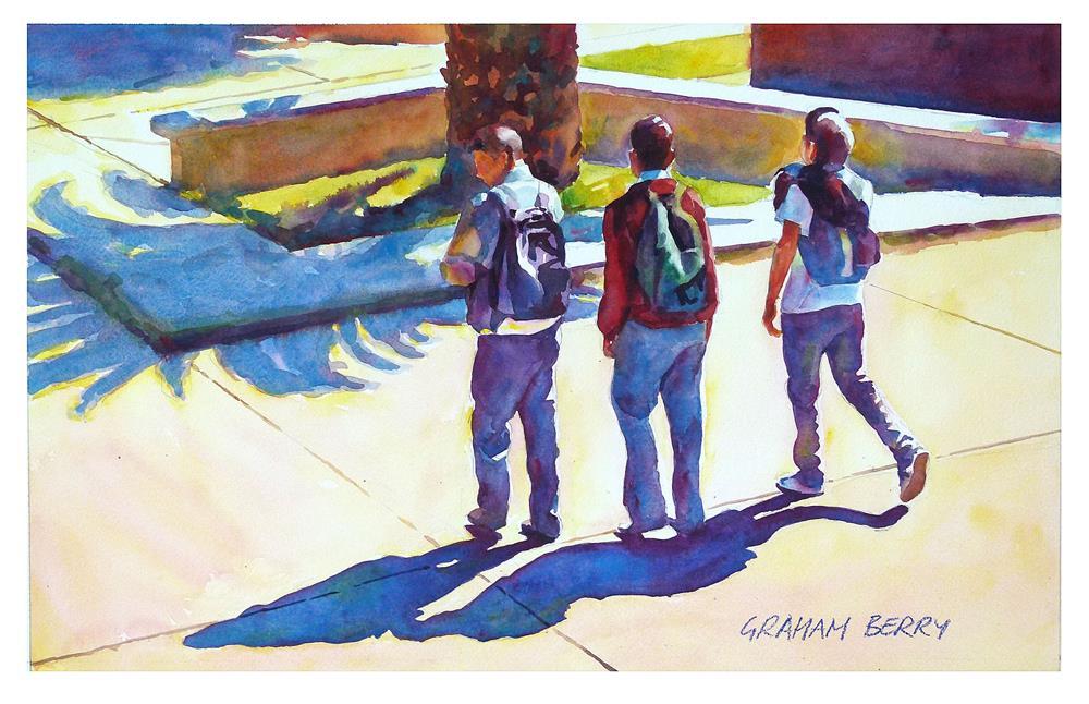 """School's out."" original fine art by Graham Berry"