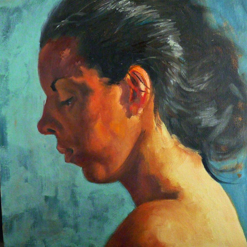 """Contemplate"" original fine art by Sharman Owings"