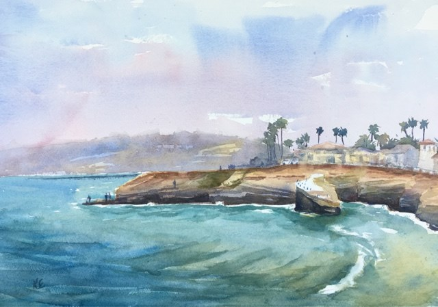 """Morning Along the Cliffs"" original fine art by Katharine Engh"