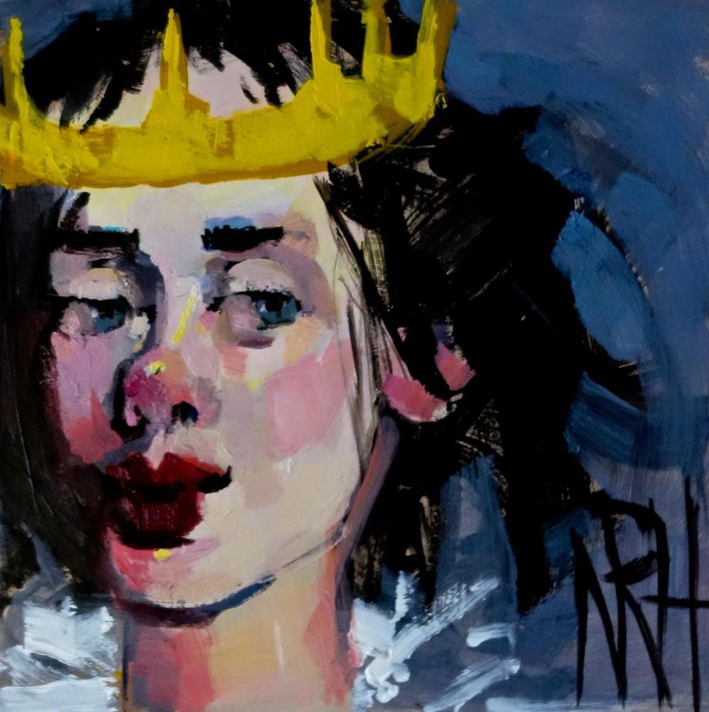 """""""Lavender Queen"""" original fine art by Nancy  Rhodes Harper"""