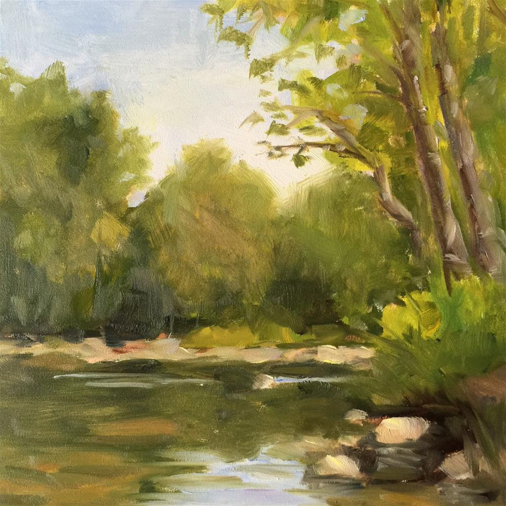 """""""Let's camp by the River"""" original fine art by Debra Dunn"""