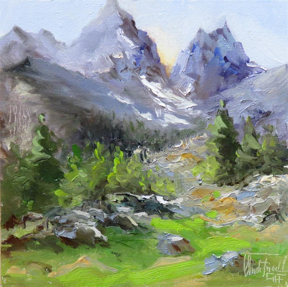 """High up in the Mountains"" original fine art by Christa Friedl"