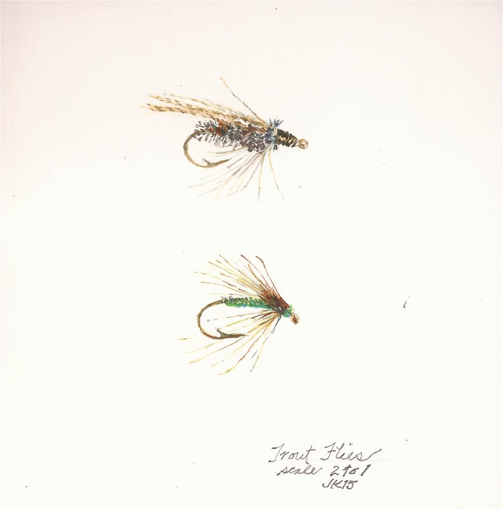 """Trout Flies"" original fine art by Jean Krueger"