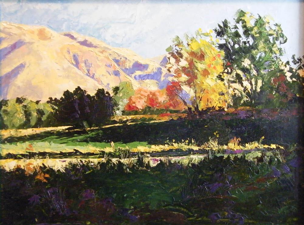 """Mountain Meadow"" original fine art by Donna Whatcott Parsons"
