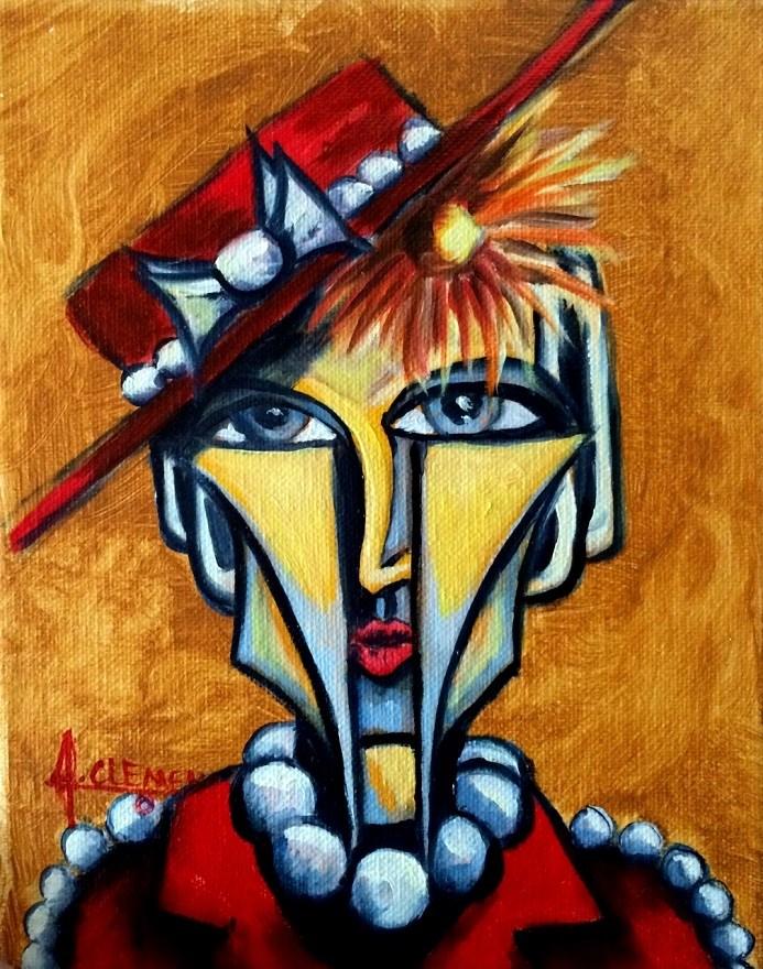 """""""Hattie"""" original fine art by Jolynn Clemens"""