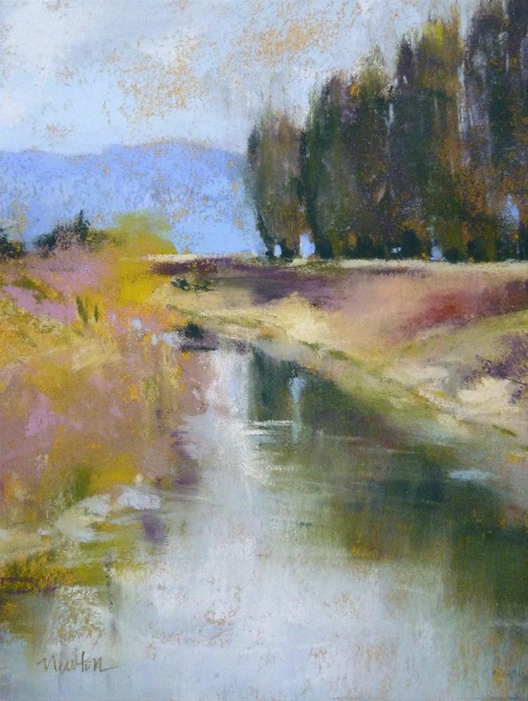 """Riverwalk Sunday"" original fine art by Barbara Benedetti Newton"