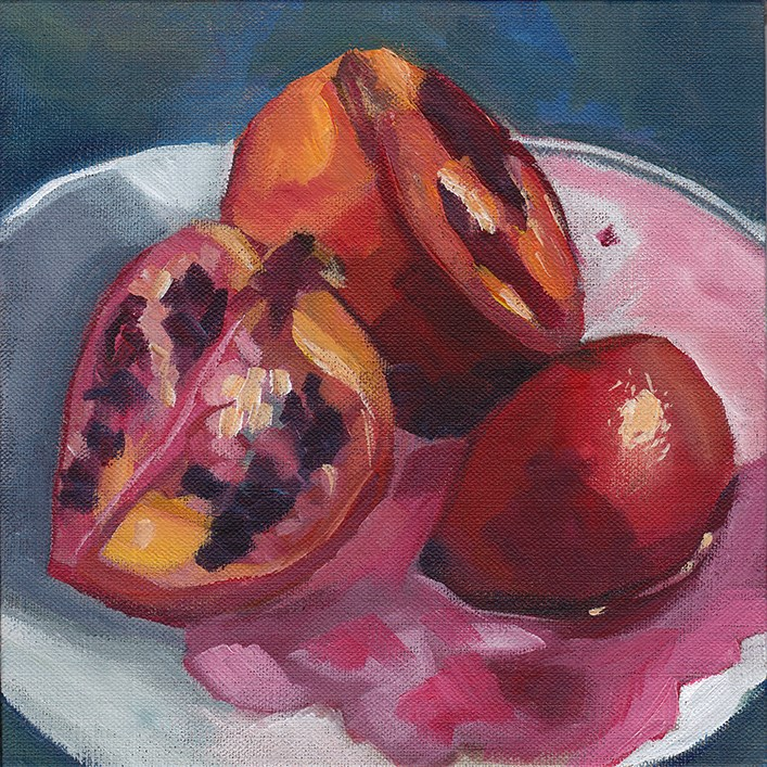 """Pomegranate"" original fine art by J M Needham"
