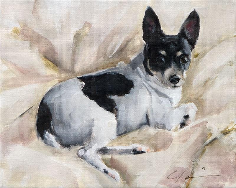 """PAINT MY DOG - Copper - #15"" original fine art by Clair Hartmann"