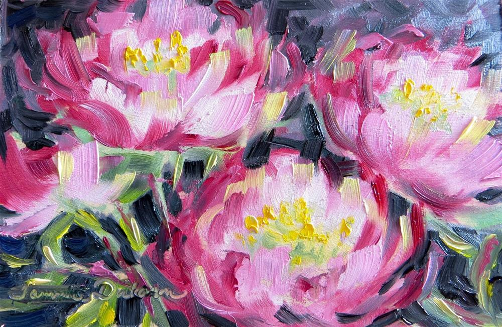 """""""Peonies in Red"""" original fine art by Tammie Dickerson"""