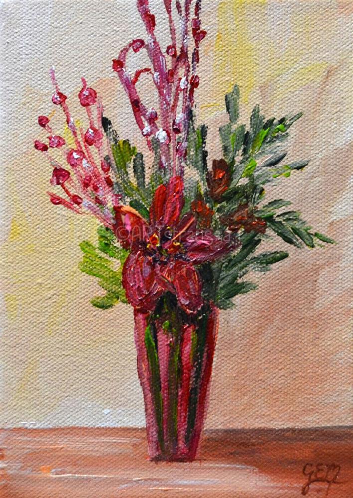 """SALE!!!Donna's Winter Bouquet"" original fine art by Gloria Ester"