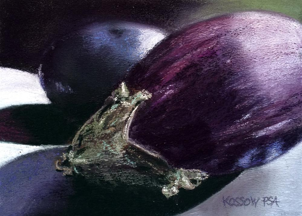 """Aubergines"" original fine art by Cristine Kossow"