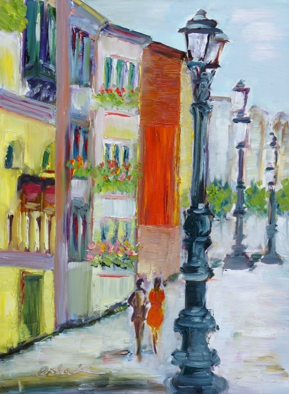 """Sidewalk Venice"" original fine art by Lisa Fu"