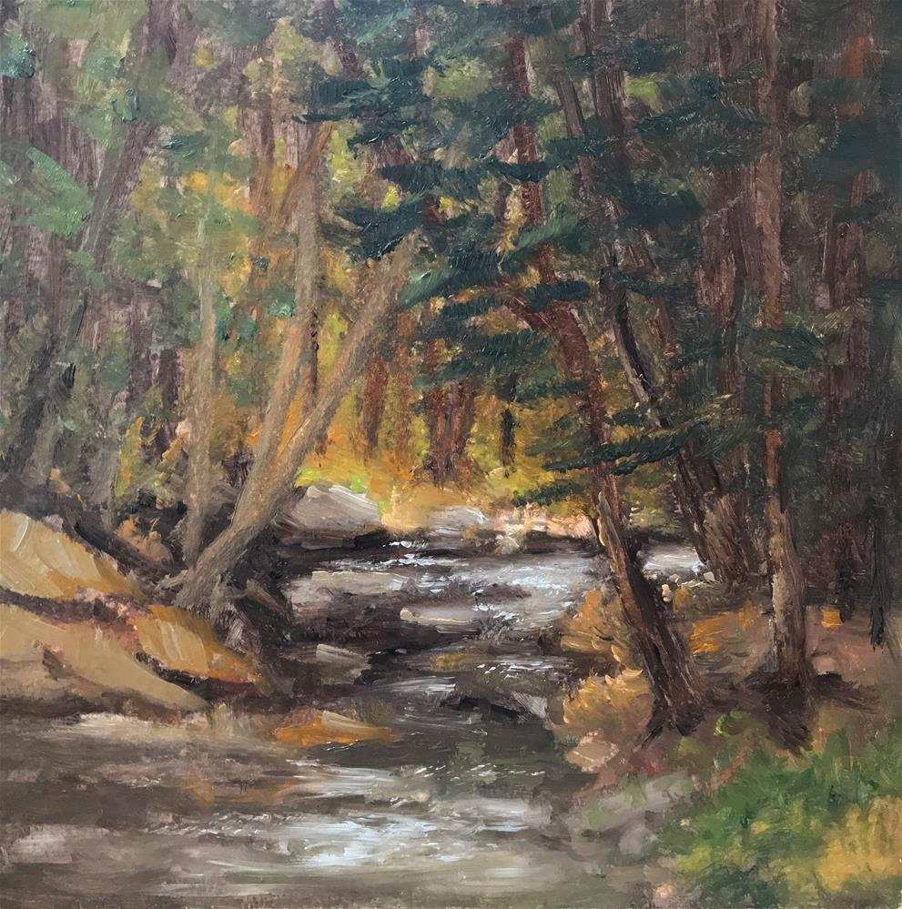 """Fall Brook"" original fine art by Betty Argiros"