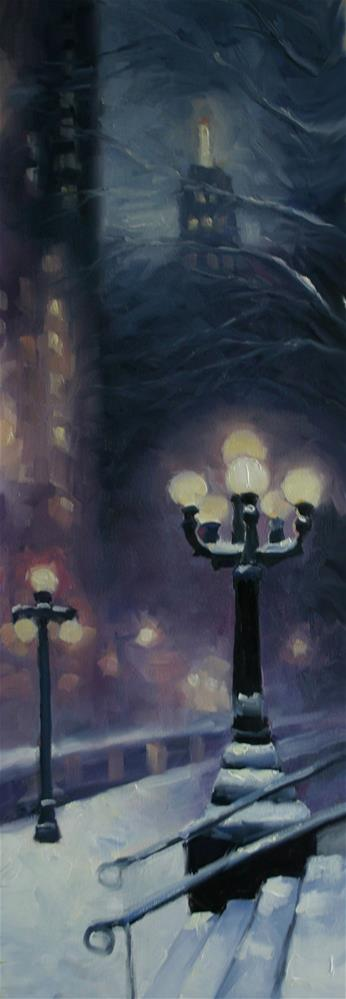 """Lights at Toronto's Old City Hall"" original fine art by Catherine Jeffrey"