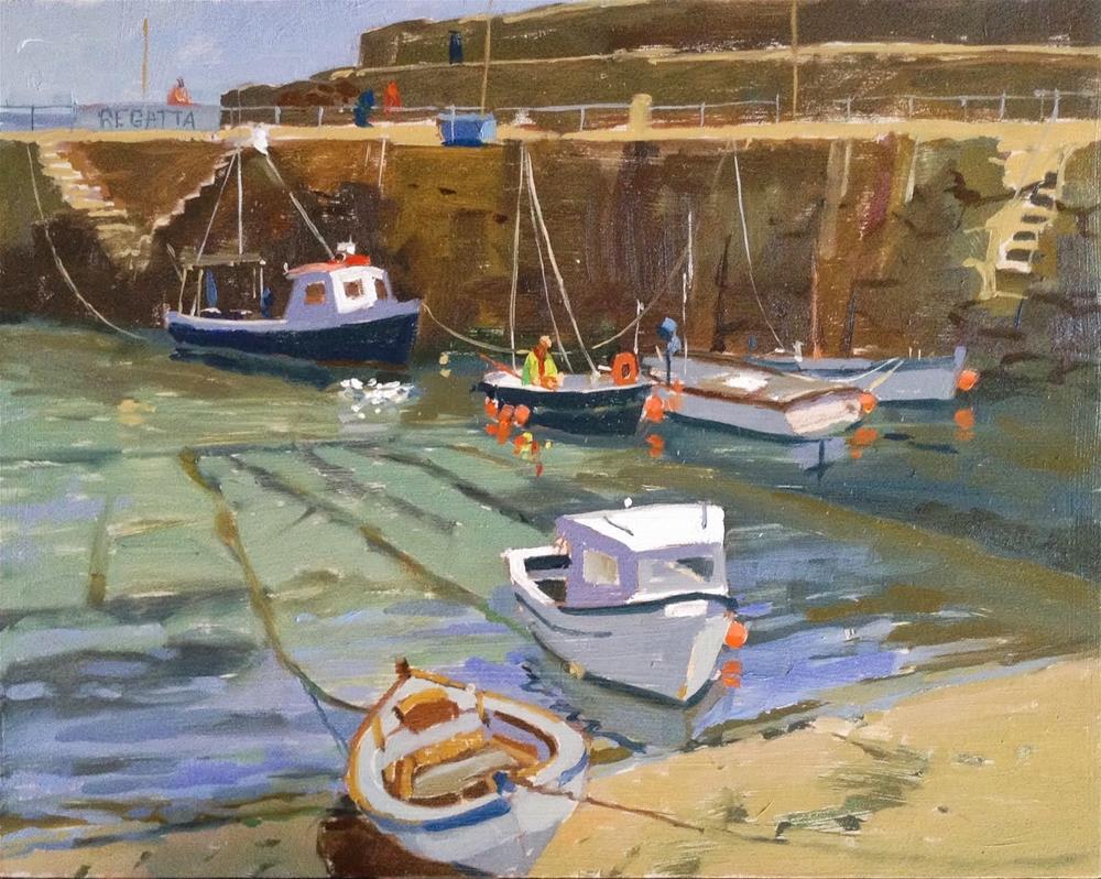 """The day before regatta!"" original fine art by Haidee-Jo Summers ROI"