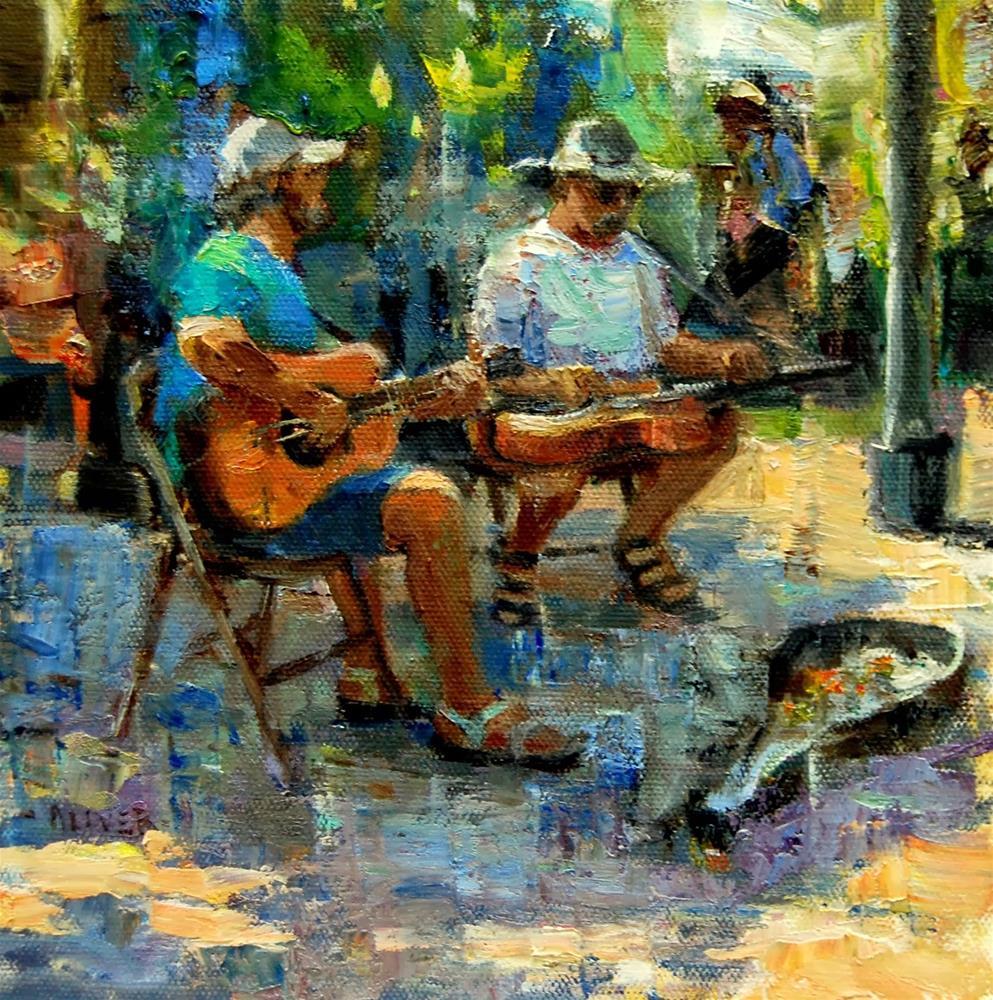 """""""Farmers Market #23 - Musicians"""" original fine art by Julie Ford Oliver"""