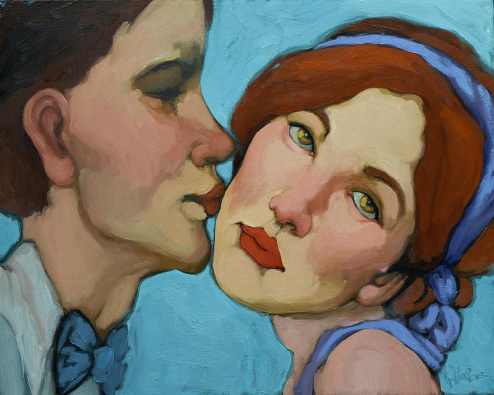 """""""The Kiss"""" original fine art by Kayleen Horsma"""