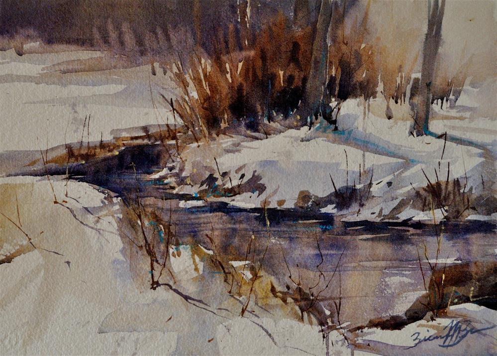 """""""Stillness of Winter"""" original fine art by Brienne M Brown"""