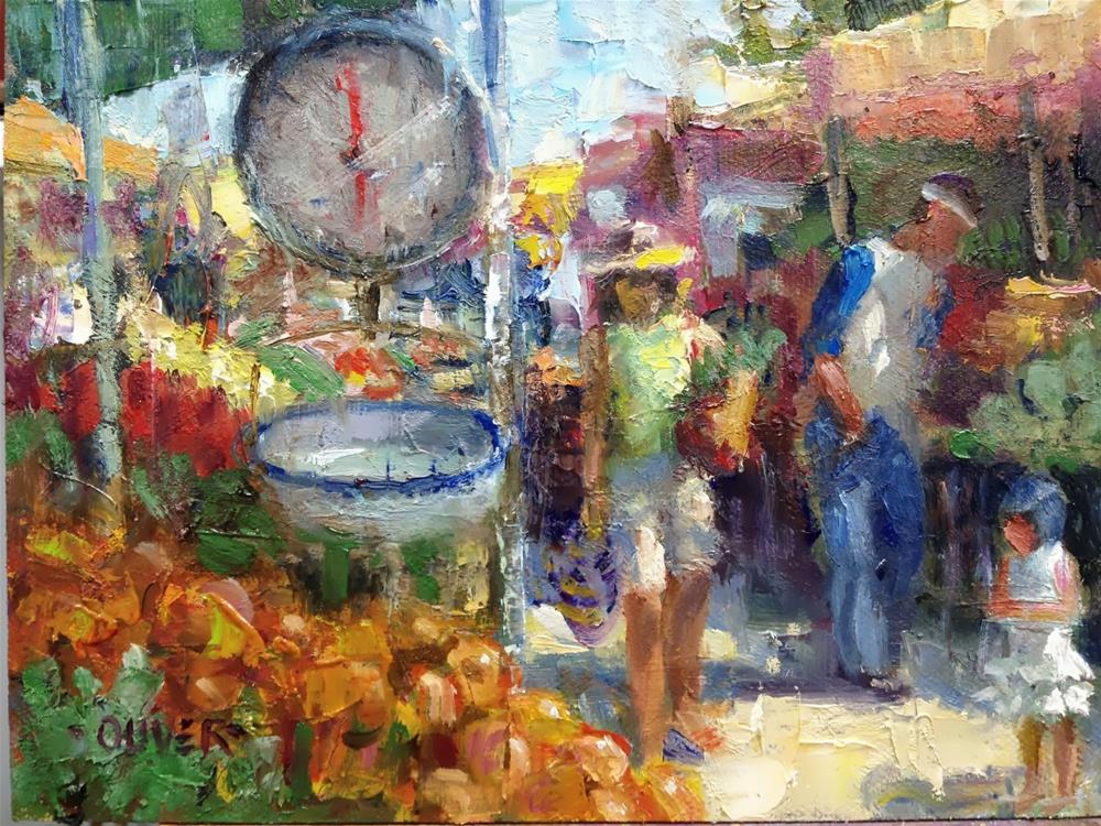 """Farmers Market #3"" original fine art by Julie Ford Oliver"
