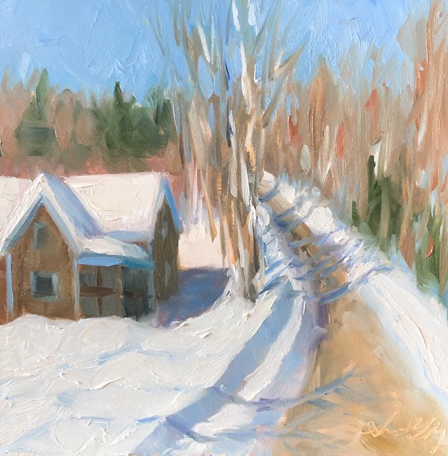 """#263 - Bluebird Day - Stowe, VT"" original fine art by Sara Gray"