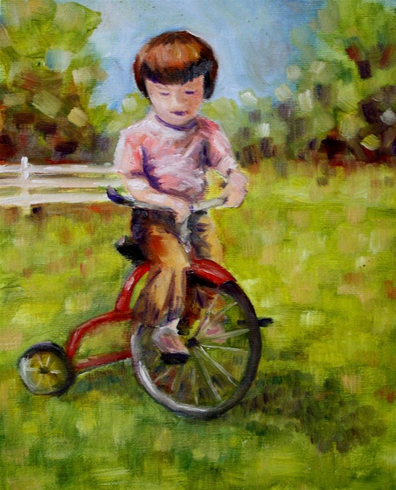 """Bicycle challenge"" original fine art by Maggie Flatley"