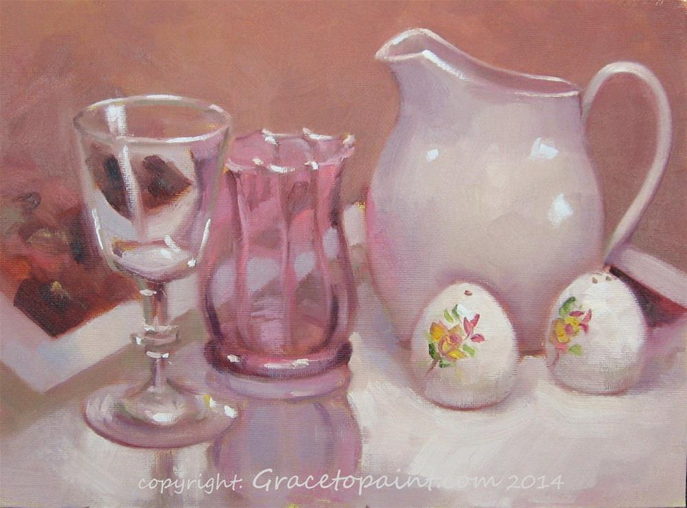 """""""Glass and Ceramics"""" original fine art by Maresa Lilley"""