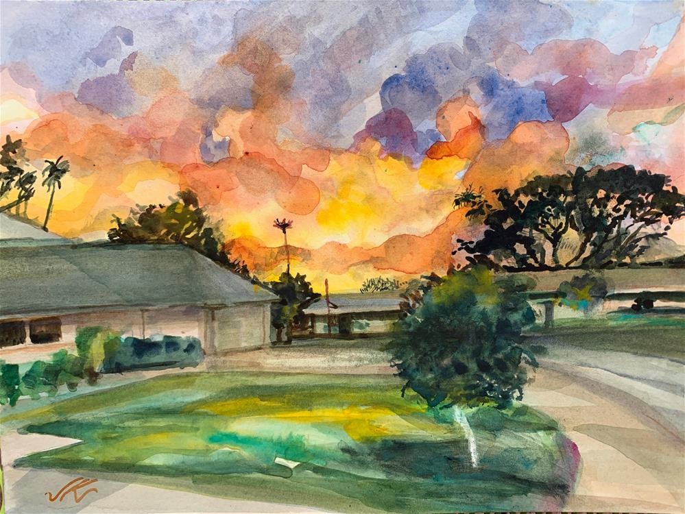 """Cumberland Ave."" original fine art by Jean Krueger"