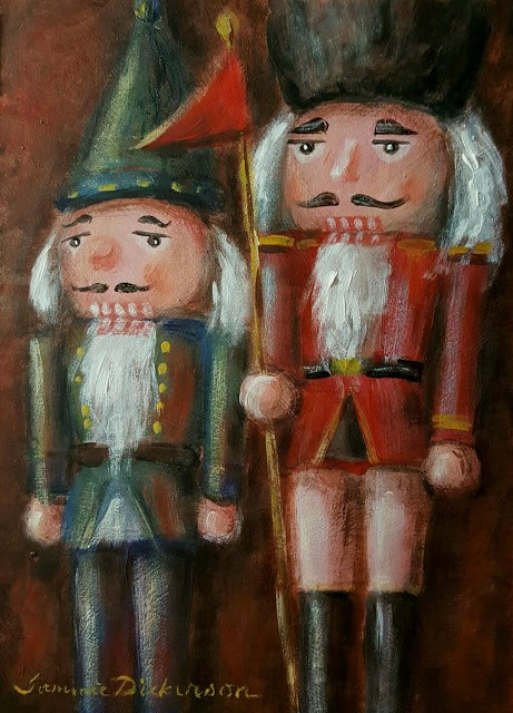 """Flag Bearing Nutcrackers"" original fine art by Tammie Dickerson"