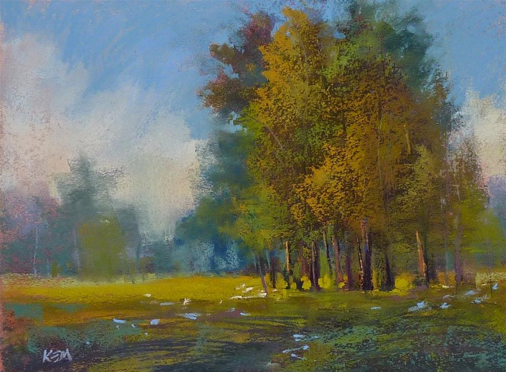 """""""Paint Along Monday...Trees and Wildflowers"""" original fine art by Karen Margulis"""