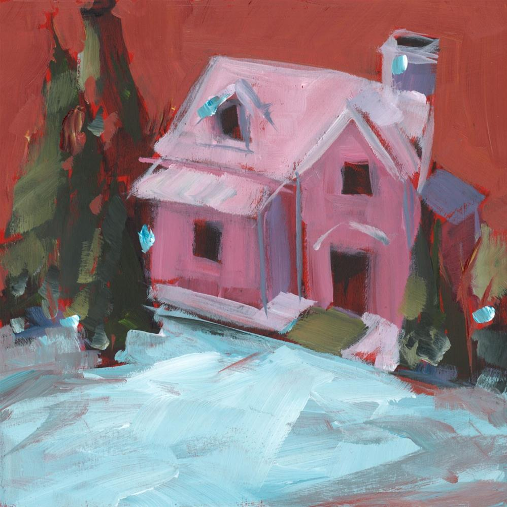 """1008: Just a Pink House"" original fine art by Brian Miller"
