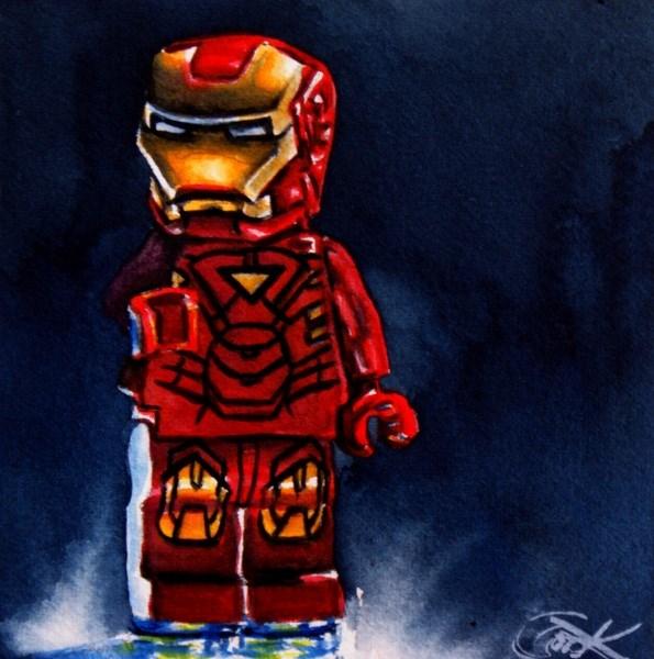 """Lego Iron Man"" original fine art by Crystal Cook"