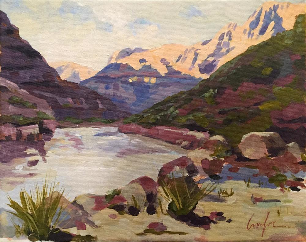 """Last Light in the Grand Canyon"" original fine art by Cornelis vanSpronsen"