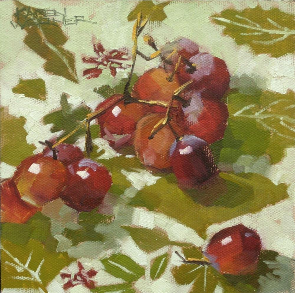 """Grapes & Greens"" original fine art by Karen Werner"