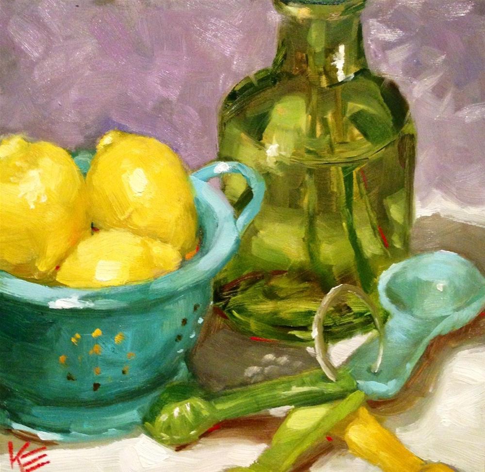"""Lemon Joy"" original fine art by Krista Eaton"