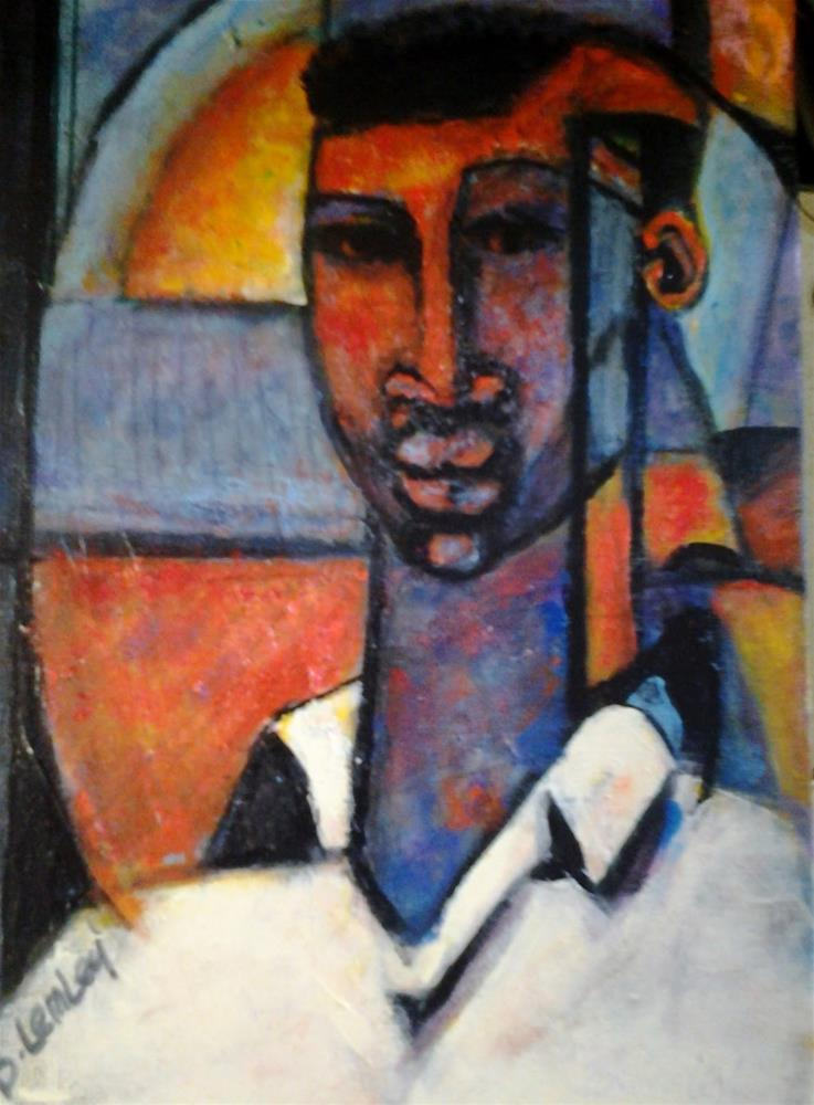 """""""Abstract African"""" original fine art by Barbara Lemley"""