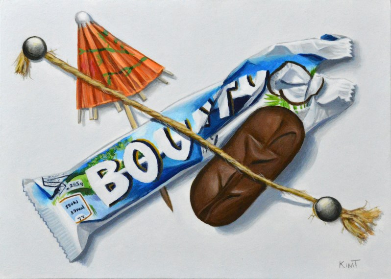 """Dreaming of the Tropics (and Chocolate!)"" original fine art by Kim Testone"