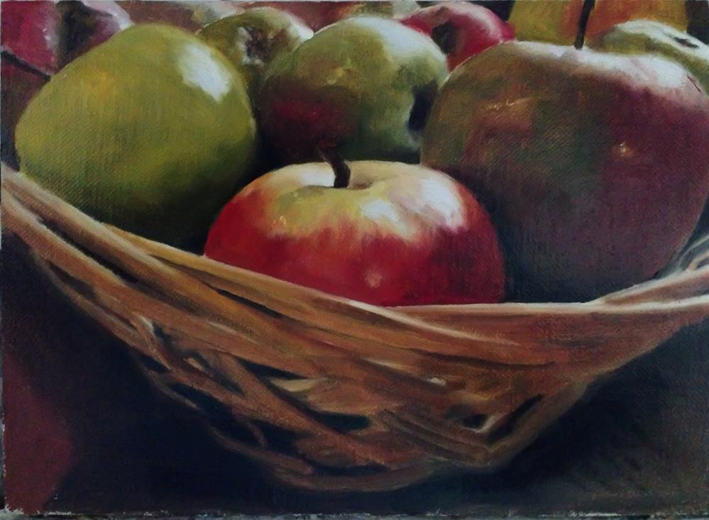 """""""Apple Basket"""" original fine art by James Coates"""