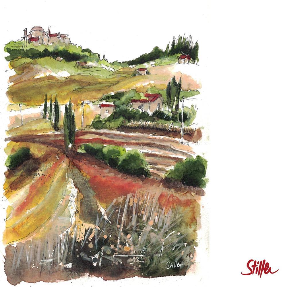 """3500 Tuscany Landscape"" original fine art by Dietmar Stiller"