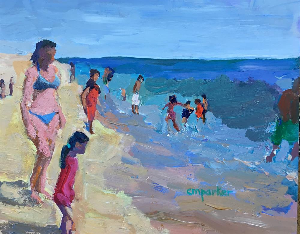 """Figurative seascape"" original fine art by Christine Parker"