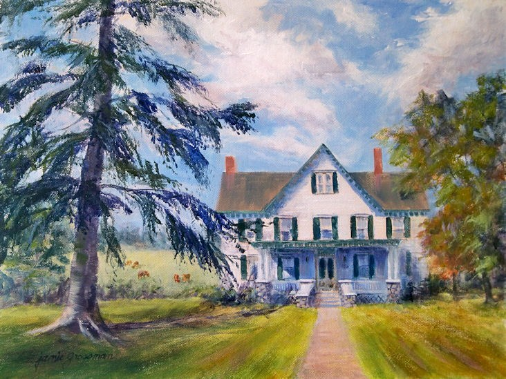 """Home Sweet Home"" original fine art by Jamie Williams Grossman"