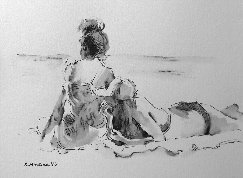 """hanasketching#17"" original fine art by Katya Minkina"