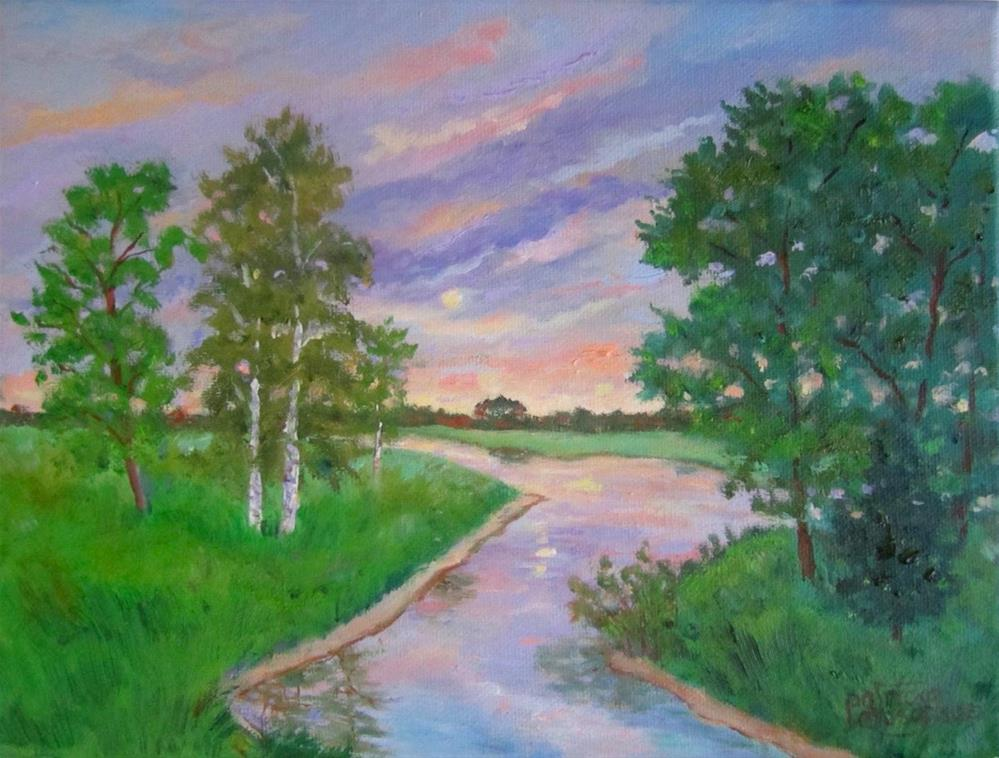 """Sunset at Lake Mõlsaküla"" original fine art by Patricia Musgrave"