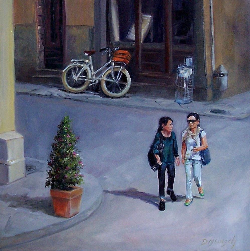 """Walking and Talking"" original fine art by Donna Munsch"