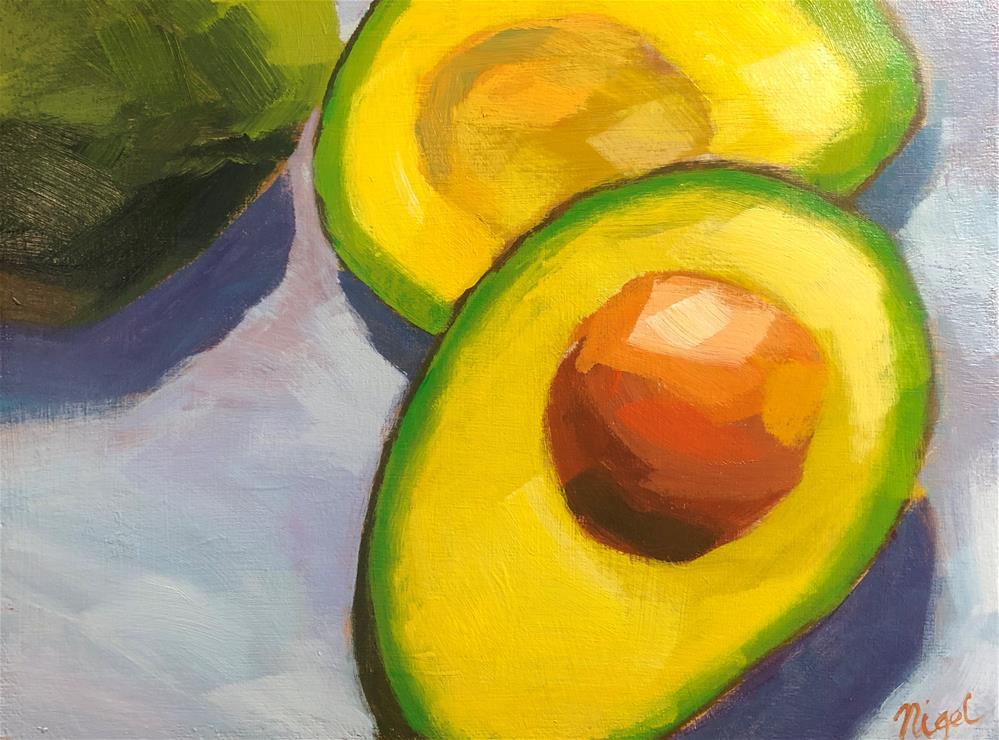 """""""Avocado trio"""" original fine art by Nigel Williams"""