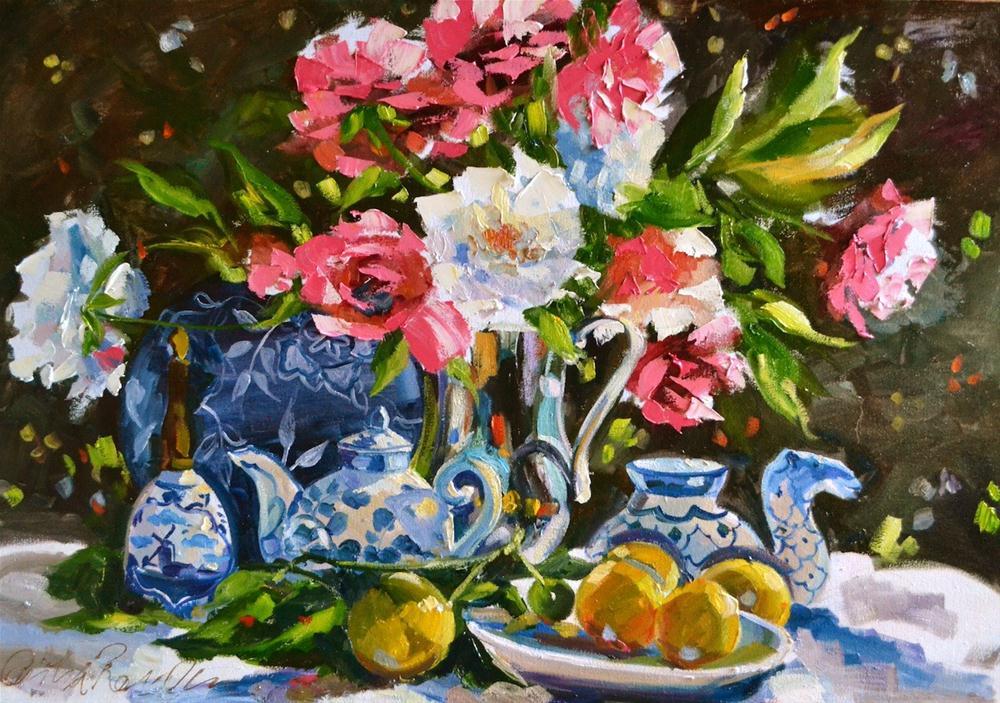 """ABIGAIL'S BLUE"" original fine art by Cecilia Rosslee"