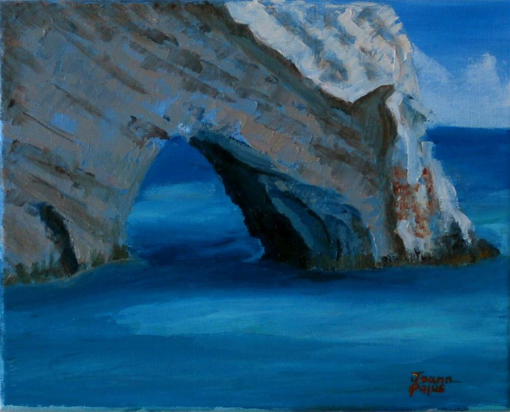 """Blue Caves"" original fine art by Joann Polos"